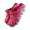 รองเท้า CROCS รุ่น DUET SPORT CLOG สีชมพูเข้มพื้นเทา