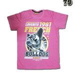 เสื้อยืดชาย Lovebite Size L - Lovebite 1981 French Bulldog
