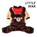 (พร้อมส่ง) ชุดกันหนาวสุนัขสี่ขา Little Bear