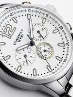 นาฬิกา Overfly eyki แท้ 100% Day Dat  หน้าปัดสีขาว สายเลสแท้ รุ่นใหม่ล่าสุด
