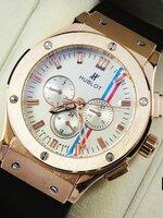 นาฬิกา Hublot หน้าปัดสีขาว คาดแดงฟ้า ระบบ Automatic งาน AAA สวยขั้นแทพ หายากระบบจริงทั้งหมด