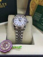 นาฬิกา Rolex DateJust Lady งานเกรด Mirror สายจูบิรี่ หน้าปัดสีขาวมุข สายเลส รุ่นดังหรู มีระดับ