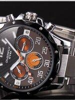 นาฬิกา Overfly eyki แท้ 100% Day Dat  สายเลสแท้ รุ่นใหม่ล่าสุด ขายดีอันดับ 1