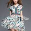 Lady Ribbon's Made Lady Jenny Super Chic Colorful Flower Printed Viscose Dress thumbnail 2