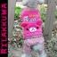 (พร้อมส่ง) ชุดกันหนาวสุนัขสี่ขา คุมะ สีชมพู thumbnail 1