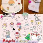 (2 แผ่น/ชุด) สติ๊กเกอร์ Angela's Story Sticker Set