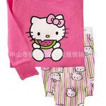 ชุดนอน Baby Gap ลาย Hello Kitty กินแตงโม สีชมพู แขนยาว