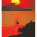 โปสการ์ด เกาะส้ม เกาะสมุย จังหวัดสุราษฎร์ธานี /ทะเล/ชายหาด/พระอาทิตย์ตก