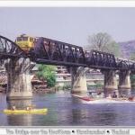 โปสการ์ด สะพานข้ามแม่น้ำแคว จังหวัดกาญจนบุรี /สะพาน/แม่น้ำแคว/รถไฟ