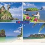 โปสการ์ด I love Krabi จังหวัดกระบี่ /ทะเล/เกาะ/ชายหาด/I<3/multiview