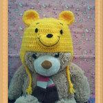 หมวกไหมพรม หมีพูห์ ยาวปิดหู