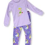 ชุดนอนเด็ก (งานส่งออก USA) ลายการ์ตูน นางฟ้า สีม่วง แขนยาว
