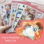 (5 แผ่น/ชุด) สติ๊กเกอร์ Alice in Wonderland