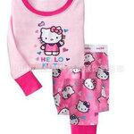 ชุดนอนเด็ก Baby Gap ลายการ์ตูน Hello Kitty สีชมพู แขนยาว