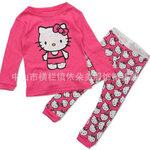 ชุดนอนเด็ก Baby Gap ลาย Hello Kitty แขนยาว/ขายาว สีชมพู