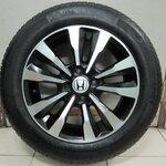 ขายล้อแม็ก Honda City ทำสีดำ ปัดหน้าเงามาใหม่ พร้อมยางขอบ 15