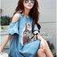 ( พร้อมส่งเสื้อผ้าเกาหลี) เดรสผ้าเดนิมปักเลื่อมลายม้าสุดเก๋ ตัวนี้ออกแนวสาวเท่ เปรี้ยว มั่นใจ มีลูกเล่นช่วงไหล่คัทเอาท์ ชายแขนเสื้อปล่อนระบาย ด้านหน้าปักเลื่อมเป็นลายม้าสุดชิค thumbnail 3