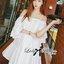 ( พร้อมส่งเสื้อผ้าเกาหลี) เดรสผ้าชีฟองสีขาว/ดำ ประดับดอกไม้สไตล์คลาสสิก ตัวนี้ดูเป็นสาวหวานแอบเซ็กซี่ น่ารักมากๆ ชายกระโปรงตัวนี้ไม่สั้นไม่ยาว สามารถใส่เป็นเดรสสั้นเดี่ยวๆหรือใส่เป็นเสื้อเข้ากับท่อนล่างก็ได้ค่ะ ช่วงไหล่เป็นสายเดี่ยว ตัดต่อมีแขนสั้น เผยไหล thumbnail 10