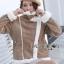 Carley Winter Suede Shearling Coat thumbnail 6