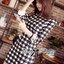 ( พร้อมส่งเสื้อผ้าเกาหลี) เดรสพิมพ์ลายฮาวด์สทูธสีขาวดำสไตล์ทางการ ตัวนี้เหมาะกับใส่ไปทำงานหรือใส่ไปงานทางการนิดนึงค่ะ แบบชุดเป็นแบบเรียบเก๋ ดูดีสไตล์ไฮโซ ทั้งตัวเป็นลายฮาวด์สทูธโทนสีขาว-ดำ ทรงเข้ารูปเน้นสัดส่วน ทำให้ดูหุ่นดี thumbnail 6