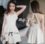 Lady Annette Pearl Embellished Laser-Cut Apron Dress in White thumbnail 1