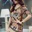Lady Georgina Sexy Mysterious Bird Printed Geometry Hems with Frills Dress L190-69B13 thumbnail 3