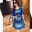 Lady Rose Embroidered Cut-Out Shoulder Denim Dress L193-79C07 thumbnail 3