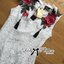 Lady Serena Classy Red Rose Embroidered White Lace Dress L169-75E03 thumbnail 5