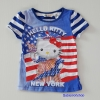 H&M : เสื้อยืดคิตตี้ ลายธงชาติ New York size : 4-6y