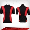 เสื้อจักรยานแขนสั้น สีแดง - ดำ