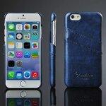 CASE IPHONE 6 หนัง PU สีฟ้าไพลิน
