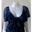 jp2227-เสื้อแฟชั่น ชีฟอง สีน้ำเงิน อก 30-33 นิ้ว thumbnail 5