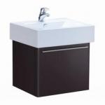ตู้เก็บของใต้อ่างล้างหน้าแบบแขวนผนังรุ่น V0036 สีดำ