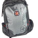 กระเป๋าสะพายหลัง swiss gear รุ่น KW082 สีเทา-ดำ