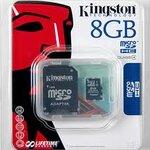 MICRO SD CARD kingston 8 GB