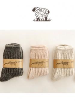 SC112-48 ถุงเท้ากันหนาว Lamps Wool ทอเนื้อแน่น ใส่อุ่นสบาย size 18-22 CM สำหรับเด็ก 6-12 ขวบ
