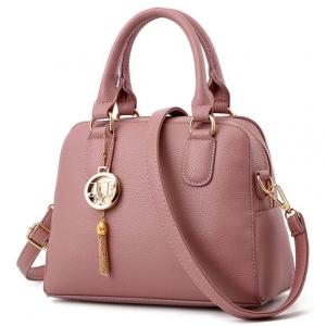 ***พร้อมส่ง*** กระเป๋าแฟชั่นสตรี รหัส BV-6089 (B6-026) สีดำ สไตล์เกาหลี สำหรับ สุภาพสตรีทันสมัย ราคาไม่แพงชมพู