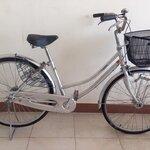 จักรยานแม่บ้าน มือสองญี่ปุ่น เฟรมเหล็ก ไม่มีเกียร์ ดุมไฟหนน้า ออโต้