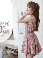 Crerry dress เดรสแฟชั้นเกาหลี จั๊มเอวลายสวย