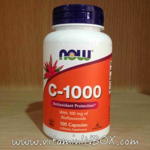 # วิตามิน C #Now Foods, C-1000, with Bioflavonoids 100 Capsules