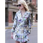 [พร้อมส่ง] เสื้อผ้าแฟชั่นเกาหลี Lady Ribbon's Made โค้ตพิมพ์ลายดอกไม้สีพาสเทล