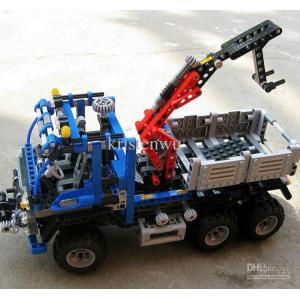 กลไก (Technic) D-3331. ตัวต่อเลโก้จีน รถบรรทุกติดเครนยก