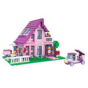 บ้าน (House) A-24801 บ้านสามเหลี่ยมสีชมพู