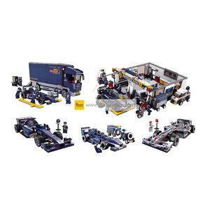 รถแข่ง (Formula cars) S-set 1. รวมทีมรถแข่ง F1 (ชุด 5 กล่อง)
