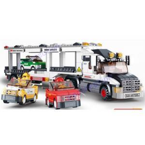 ขนส่ง (Transport) S-0339. ตัวต่อเลโก้จีน รถบรรทุกรถ