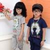 ชุดเซ็ตสกรีนลายหมวกอินเดียแดงสีกรมท่า 170*1