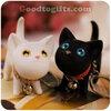 พวงกุญแจน้องแมวขาวดำสุดน่ารัก