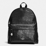 Preorder COACH Campus Backpack in Croc-Embossed Leather Style No: 37712