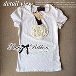 Lady Rosie Sweet Fabulous Cotton Spandex T-Shirt เสื้อยืดปักดอกไม้
