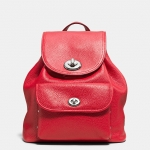Preorder COACH Mini Turnlock Rucksack in Pebble Leather Style No: 37581
